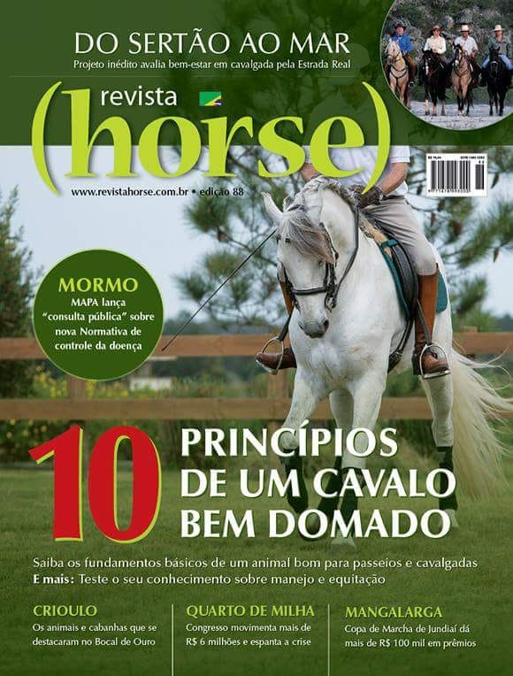 Bailos Interagro is the cover of Horse Magazine ´s edition 88 in Brazil. Photo: Fagner Almeida
