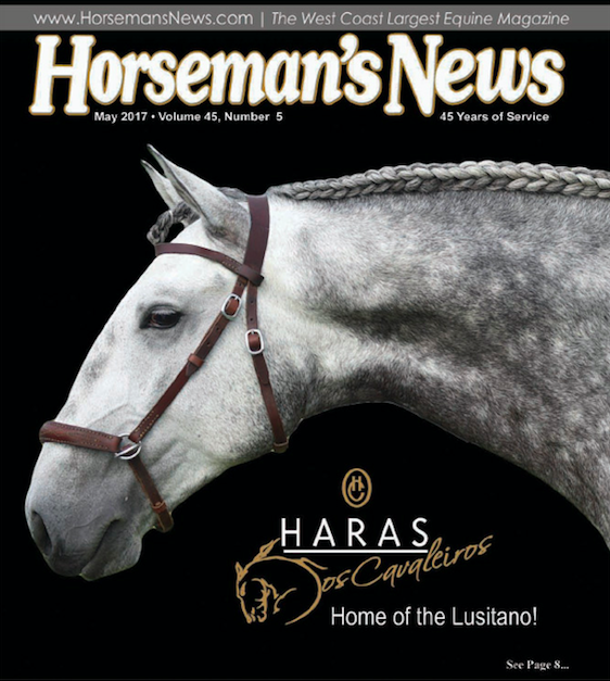 Hobbit Interagro at the cover of Horseman´s Magazine