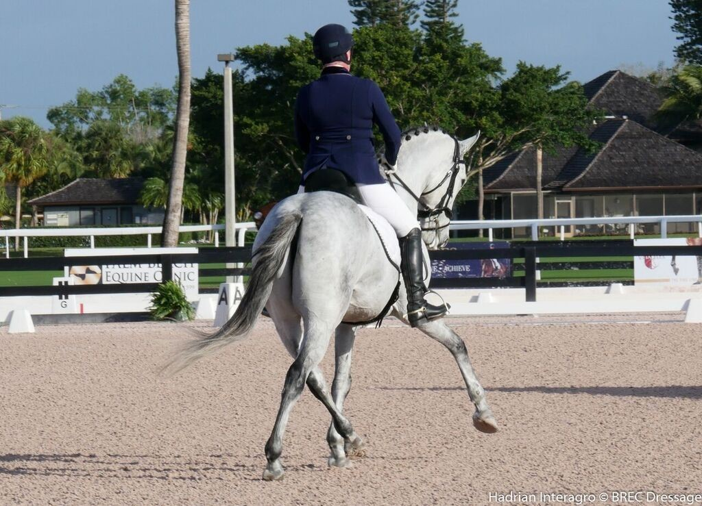 Hadrian Interagro and Tyra Vernon of BREC Dressage