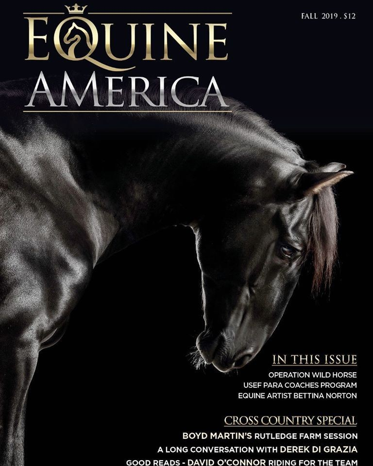 Fellini Interagro at the cover of Equine America Magazine. Photo: Ramon Casares