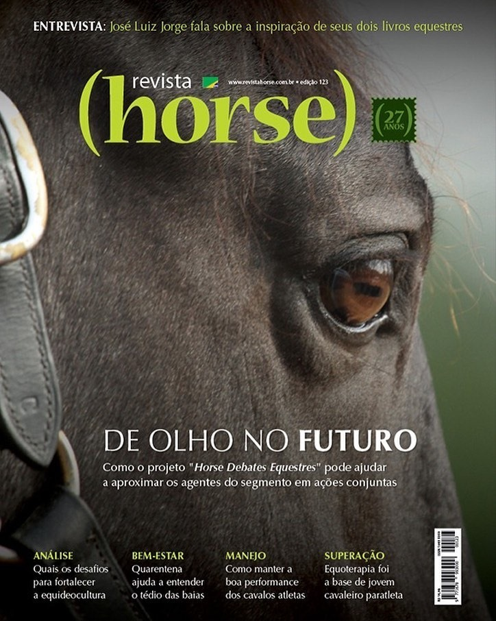 Esparteiro Interagro/TUPA Cover of June 2020 Horse Magazine, Brazil