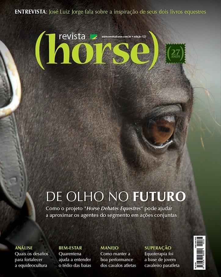 Esparteiro Interagro/TUPA Cover of June 2020 Horse Magazine, Brazil
